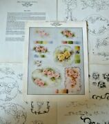 Decorative China Painting Directions For Roses And Scrollwork Vintage 1979