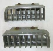 1977 - 1979 Cadillac Seville Lower Front Bumper Grill Pair L And R Chrome 77 78 79