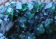 5.0 Amazing Change Color Green And Blue Gemmy Fluorite Rogerley Mine England