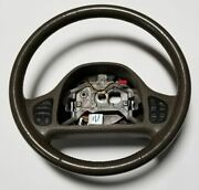 1999-2002 Lincoln Continental Steering Wheel Brown With Radio Climate Buttons