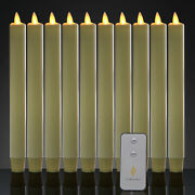 Luminara Battery Operated Taper Led Candles Flameless Flickering With Remote 8and039and039