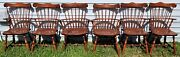 Set Of 6 Vintage S Bent Brothers Bros Colonial Windsor Chairs 2 Arm 4 Side