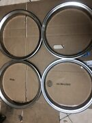 16andrdquo Stainless Steel Trim Rings Used /fit Most Cars And Trucks. 1-3/4andrdquo Deep.