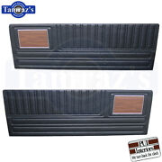 1970 Duster Front Door And Rear Quarter Trim Panels Woodgrain And Chrome Strip Pui
