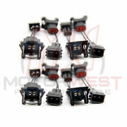 Ev1 Female To Honda Obd2 Male Fuel Injector Connector Adapters 8 Pack