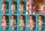 Vintage Antique Effe Bambole Franca 9 Doll 1950s Italy With Clothes Dress Lot