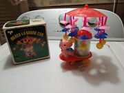 Old Vintage Elephant Merry Go Round Wind Up Circus Car Toy Taiwan Iob Rare Works