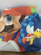 Nintendo Super Mario Bros. Reversible Twin Comforter And Fitted Sheet Licensed