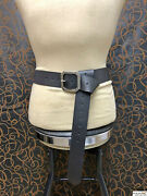 Medieval 2and039and039 Leather Belt With Massive Square Buckle Black Or Brown Sca Larp