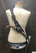 Pirate Luxury Leather Baldric For Latex Or Metal Sword And Opt. Holster Larp