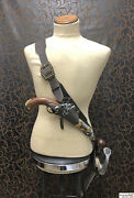 Pirate Luxury Leather Baldric Sword / Holster Combo With Opt. 2nd Holster