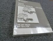1989 International 700 900 Truck And 900 Tractor Shop Service Repair Manual New