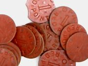 Vintage Wwii Red Point Opa Ration Token - Set Of 17
