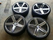 4- 22 Heavy Hitters Hh-15 All Chrome Wheels And Tires Bmw 7 Series Chevy Camaro