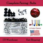 Complete Fairing Bolts Mounting Fixing Alloy For Suzuki Rf600r 1993-1998