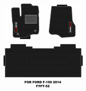 Ford F150 Truck Floor Mats 2014-2019 Custom Black Latex All Weather Protection