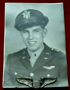 Original A. E Co. Wwii Af 3 Sterling Wings And Identified Pilots Photo Hal Morgan