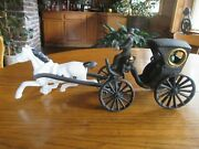 Vintage Die Cast Horse And Buggy Coach
