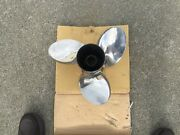 Stainless Steel Evinrude Propeller 15 1/2 X 17 Rh In New Condition.