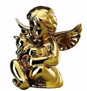 Rosenthal - Angel With Cat Gold 4 1/8in Porcelain Engel Mittel