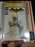 Batman Blank 1 Signed And Sketched By Peter V Nguyen Cbcs Art Front And Back