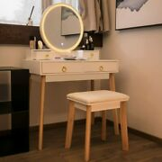 New Bedroom Makeup Vanity Set Dressing Table W/ Stool 3 Variable Touch Led Light