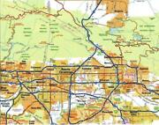 Los Angeles California Map Glossy Poster Picture Photo Banner Print Road La 5844