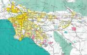Los Angeles California Map Glossy Poster Picture Photo Banner Print Road La 5845