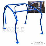 For 99-05 Gti Golf 1.8t Vr6 6 Point Anti Roll Cage Bolt On Brace Chassis Blue