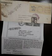O 1953 United States Usa, Delayed By Fire Board S.s. Vessel Celebes - Mailroom