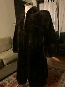 See Video - Hess Brothers Real Vintage Womenand039s Mahogany Long Swing Fur Coat