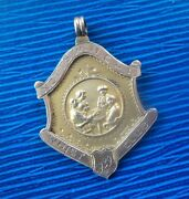 Unusual 9ct Gold Fob Medal - Whist / Playing Cards H/m 1928 - Nottingham Wmcandi
