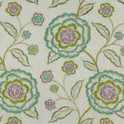 Manuel Canovas Alma Embroidered Floral Fabric Bty Absinthe