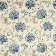 Manuel Canovassona Floral Woven/embroidered Upholstery Fabric 10 Yards Lavande