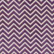 Contemporary And Transitional Zig Zag Cut Pattern Upholstery Fabric 5 Yds Amethyst