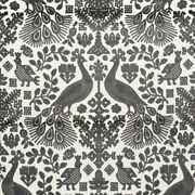 Exotic And Ethnic Chic Pavone Cut Velvet Upholstery Fabric 5yards Carbon