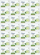 Lot Of 28 Dove Go Fresh Touch Cucumber And Green Tea Beauty Bar Soap 3.5 Oz/100 Gr