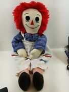 Handmade Raggedy Ann Doll Vintage Antique Dolls About 34 Long