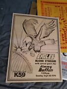 The Eagles Henley Frey Jimmy Buffett Very Rare First Printing Concert Poster