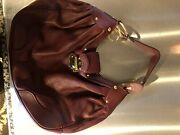 Maroon Leather Grey Suede Inside Louis Vuitton Used Only Twice. Looks Brand New