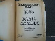 1988 Dodge Shadow And Shelby Shadow Csx-t Coupe Hatchback Parts Catalog Manual