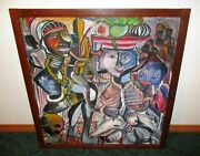 Contemporary African American Oil Painting Urban Island Art Street Scene Mcm