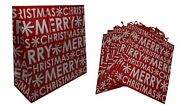 Holiday Gift Bags - Xlarge Merry Christmas, 12 Bags 15 In. X 6 In. X 15 In.