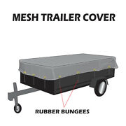 Xtarps Utility Trailer Mesh Cover W. 10 Pcs Of 9 Rubber Bungee 50 Sizes
