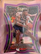 2019-20 Zion Williamson Panini Select 199 Rc Die-cut Purple Ed 81/99 Premier