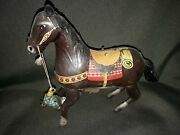 Vintage Toys Rare Cowboy On Horse Wind Up Made In Japan