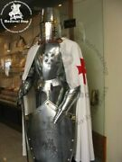 Medieval Greek Knight Helmet Armor Full Suit Wearable Sca Larp W/shield And Stand