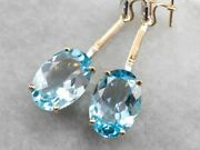 Floral Two Tone Gold Topaz Drop Earrings