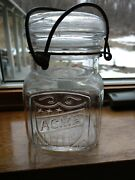 Vintage Acme Canning Jar With Lid And Bail 4 Bottom