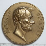 Bronze Medal Abraham Lincoln Inaugurated President 1861 By Morgan 3351695/d
